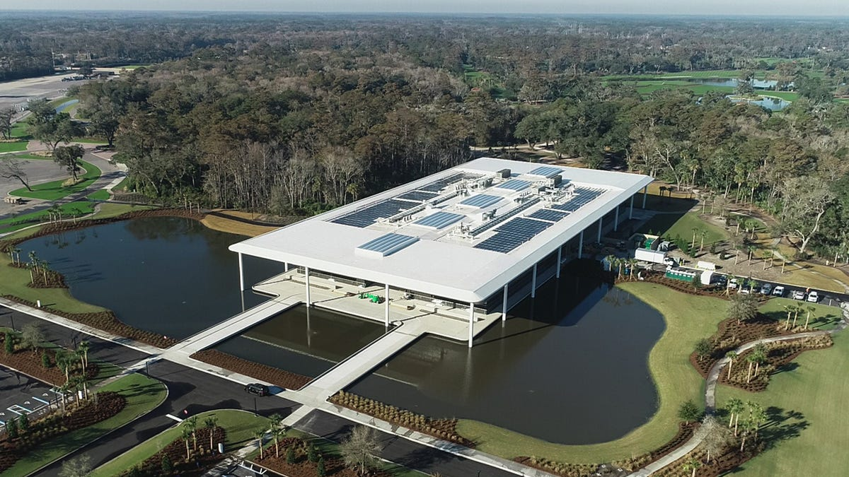 Radiance Solar was contracted by Power Secure to build a roof top solar system for the PGA.