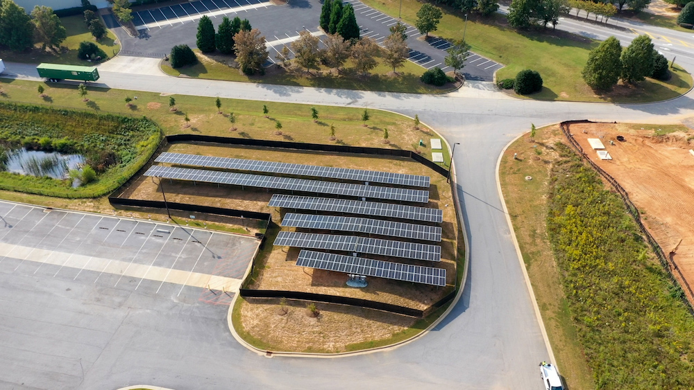 Finished installation of solar array -S&S Activewear